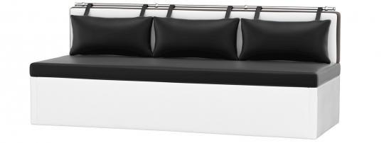 Кухонный диван Метро (Эко-кожа Черный Белый)