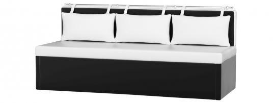 Кухонный диван Метро (Эко-кожа Белый Черный)