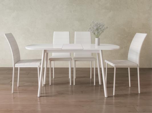 Обеденная группа для столовой и гостиной Мидел Белый