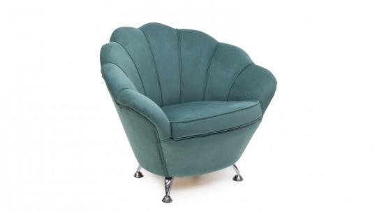 Кресло Шелл (велутто аквамарин)